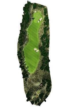 Golf Club hole 1 map