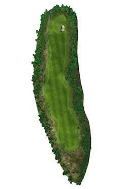 Golf Club hole 13 map