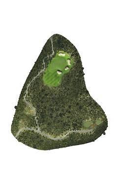 Golf Club hole 14 map