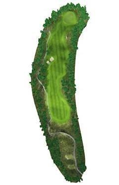 Golf Club hole 17 map