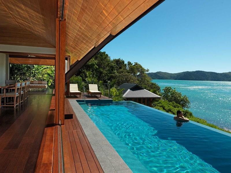Luxury Beach House Dining Room And Lap Pool At Qualia, Hamilton Island    Perfect Destination